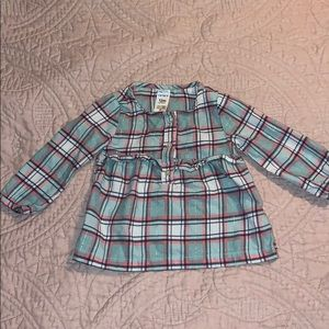 Baby plaid long sleeve shirt
